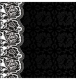 Background with lace dark square vector image vector image