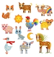 Painted Domestic Animals vector image vector image