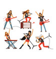 guitar amplifier and other music equipment rock vector image