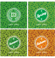 set of backgrounds with leaves in different season vector image