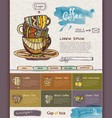 web site design template Decorative cup of coffee vector image