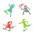 Active girls fitness sports set 1 vector image vector image