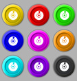 CD or DVD icon sign symbol on nine round colourful vector image vector image