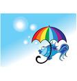 umbrella fish vector image vector image