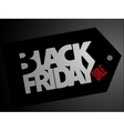 Black Friday text on price tag vector image
