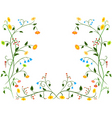 floral flower ornament vector image