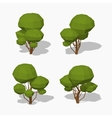 Low poly green tree vector image