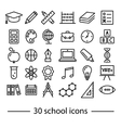 school line icons vector image