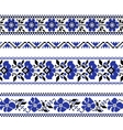 Set of Ethnic ornament pattern with cross stitch vector image