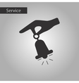 black and white style hand bell vector image
