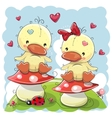 Two Cute Cartoon Ducks vector image