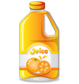 Orange juice in a gallon vector image