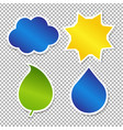 nature labels collection vector image