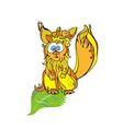 red squirrel vector image vector image