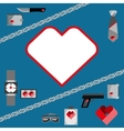 St Valentines Day Symbols mens Accessories Icons vector image