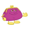 purse showing thumbs up vector image vector image