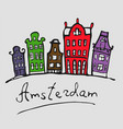 amsterdam color vector image