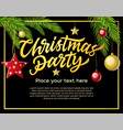 christmas party - modern with vector image