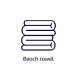 icon of beach towel on a white background vector image