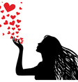 love kiss vector image