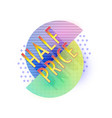 retro design sale badge template vector image