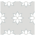 Seamless pattern of flowers 3D vector image