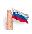 slovenia flag waving vector image