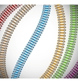 Background with colorful rails vector image