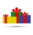Christmas presents on a white background vector image