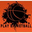 Play basketball vector image vector image