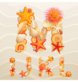 sea life font vector image vector image