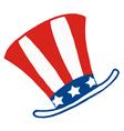 American Patriotic Hat vector image vector image