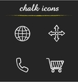 Web store icons vector image