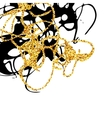 Abstract golden and black stains design element vector image