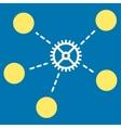 Gear Links Icon vector image