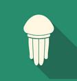 jellyfish flat icon vector image