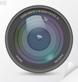 Realistic camera photo lens with shadows vector image