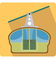 Transportation cable car flat icon vector image