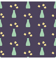 Vase with Flowers Seamless Vintage Pattern vector image