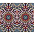 Honey Comb Hex Pattern Flower Mandala vector image