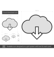 Cloud download line icon vector image