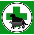 veterinary symbol with dog and cat vector image vector image