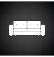 Cinema sofa icon vector image