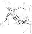 Skiing man on competitions vector image vector image