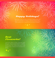 happy holidays best fireworks salute elements vector image