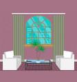 modern living room interior design light loft vector image