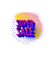 retro design sale badge template vector image