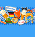 oktoberfest seamless pattern with photo booth vector image vector image