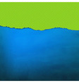 Blue Texture With Green Torn Paper vector image