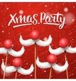 Christmas Party card Santa Claus moustache vector image vector image